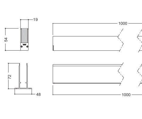 Lineart Lighting LL-G19  linear seamless connection light fixture