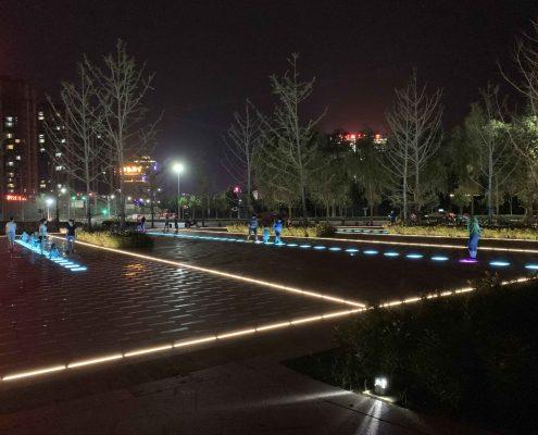 Linear LED inground light lineart lighting direct view