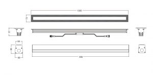 Lineart Lighting linear in-ground light compact design, IP67, driven over